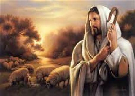 Jesus with sheep