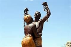 enslaved statues
