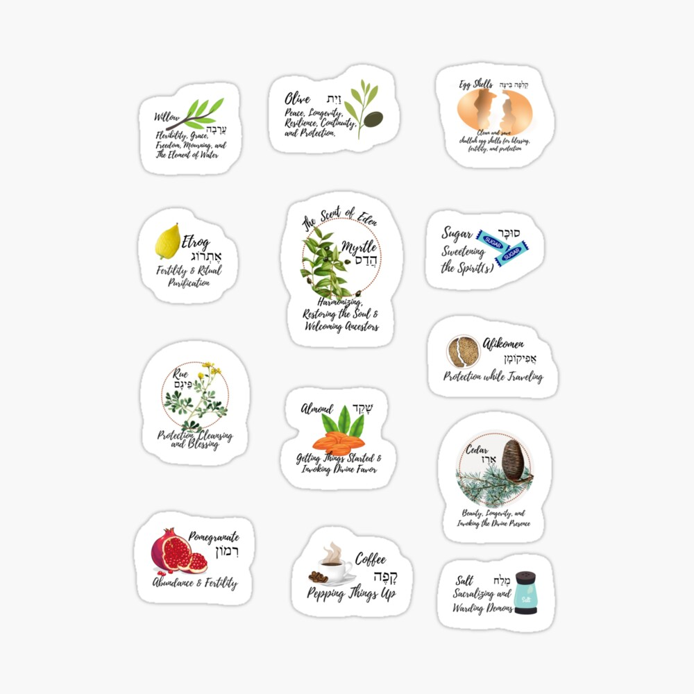 Jewish Magickal Apothecary stickers: https://www.redbubble.com/i/sticker/Jewish-Magickal-Apothecary-Stickers-by-devotaj-arts/41273783.QK27K