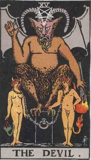 Tarot Card: Smith Waite Tarot Devil Card