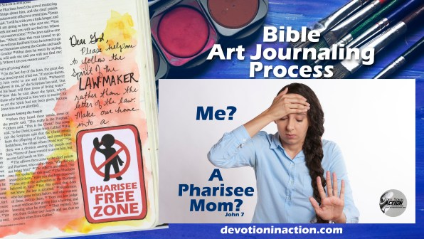 John 7 Bible Art Journaling Process