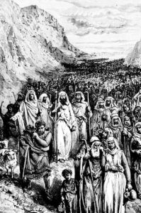 Moses and the people of Israel