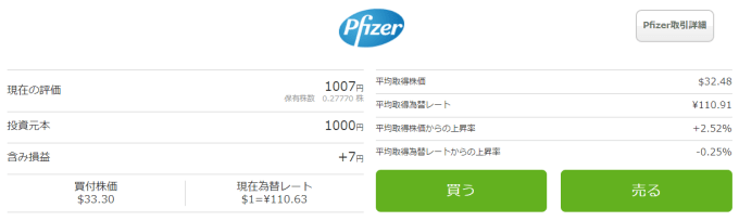 One Tap BUY【2017年7月】pfizer