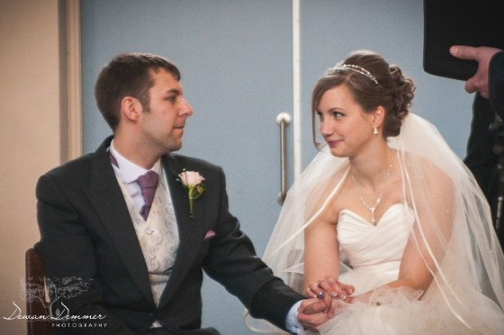 Leeds Wedding Photography at Moortown Baptist Church of the couple