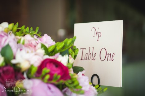 Colour Flowers and Wedding table Placement