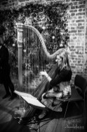 harpist playing during wedding ceremony