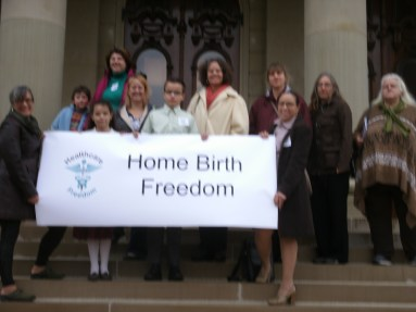 Midwives and Families on the Capitol Steps