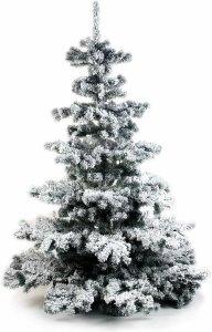 Kunstkerstboom met sneeuw bol.com