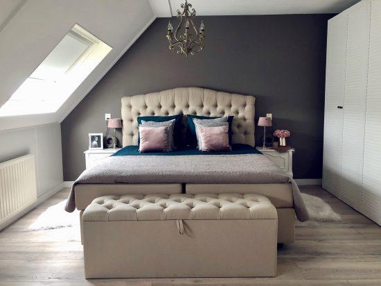 Slaapkamer landelijk sober ingericht