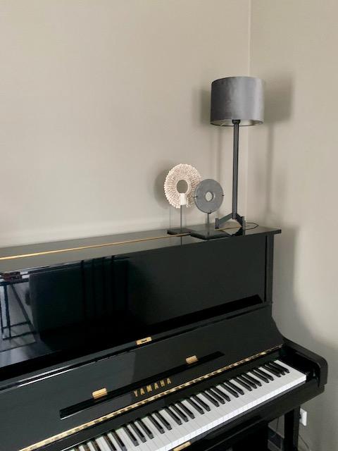 Piano ornament op voet velvet tafellamp