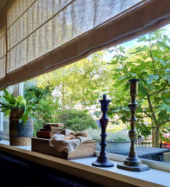 vensterbank decoratie landelijk