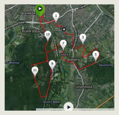 Route wandeling dag 1