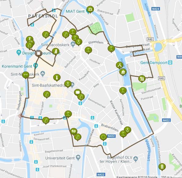 stadswandeling in Gent