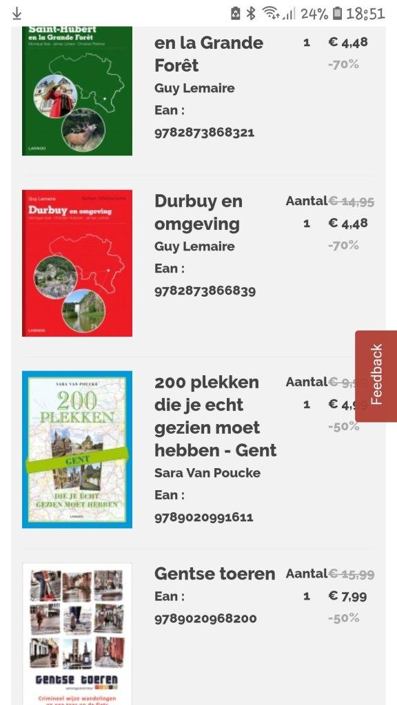 Lannoo bestelling boekenmarkt