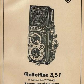 rolleiflex 3.5F reparatie instructies Duits