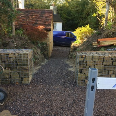 Kerb appeal step one complete, Lynton, East Grinstead