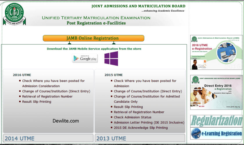 how to Check JAMB Admission Consideration Status 2016
