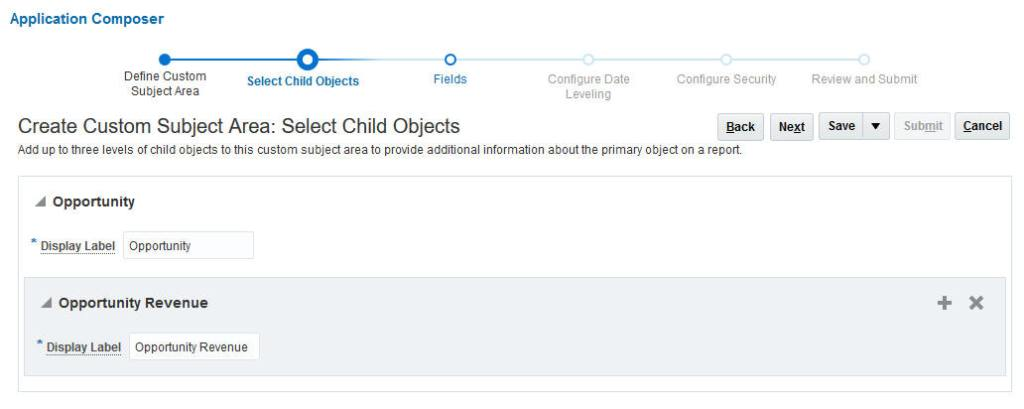 CSA select child objects