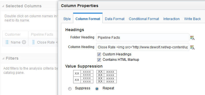 column tooltip config