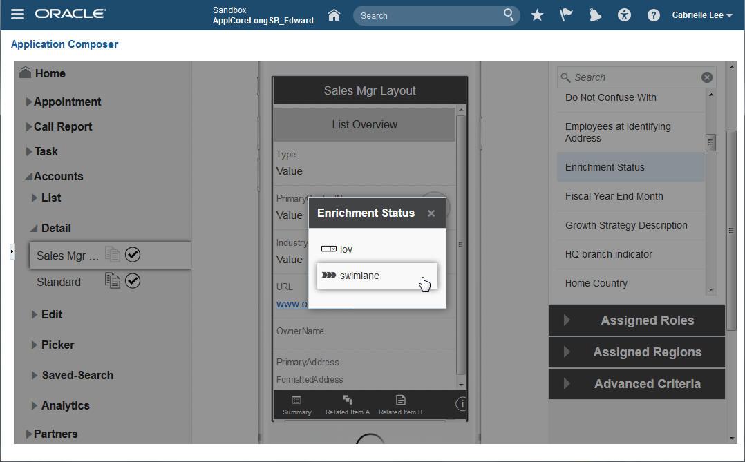 mobile app composer add visualization
