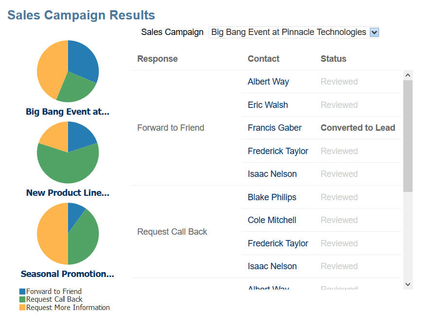 R13 Analytics Enhancements - sales campaigns reporting