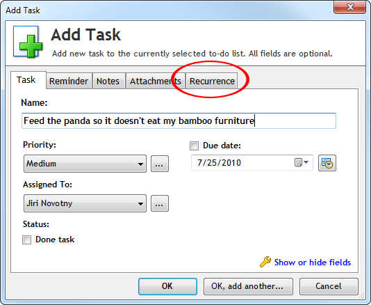 RecurringTaskHowTo1 Setting a recurrence task in Outlook seems trouble? Heres how you can reset it to your desired date