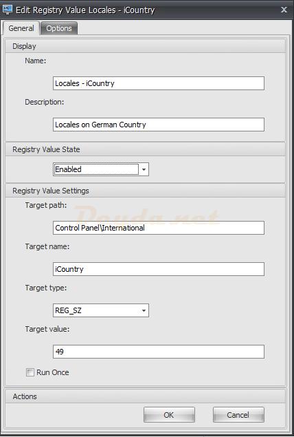 Registry Entries