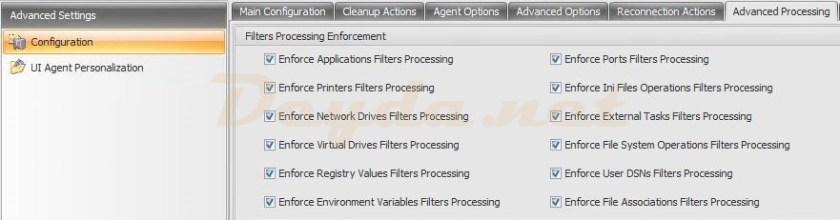 Advanced Settings Configuration Advanced Processing