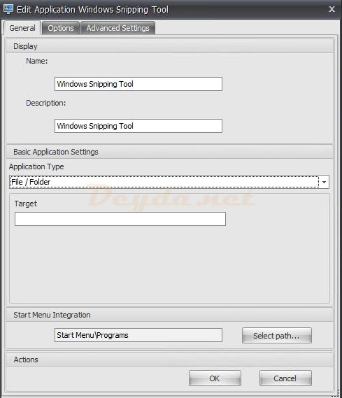 Application General File/Folder