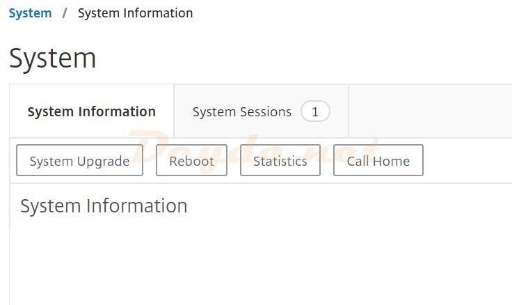 System System Information Reboot