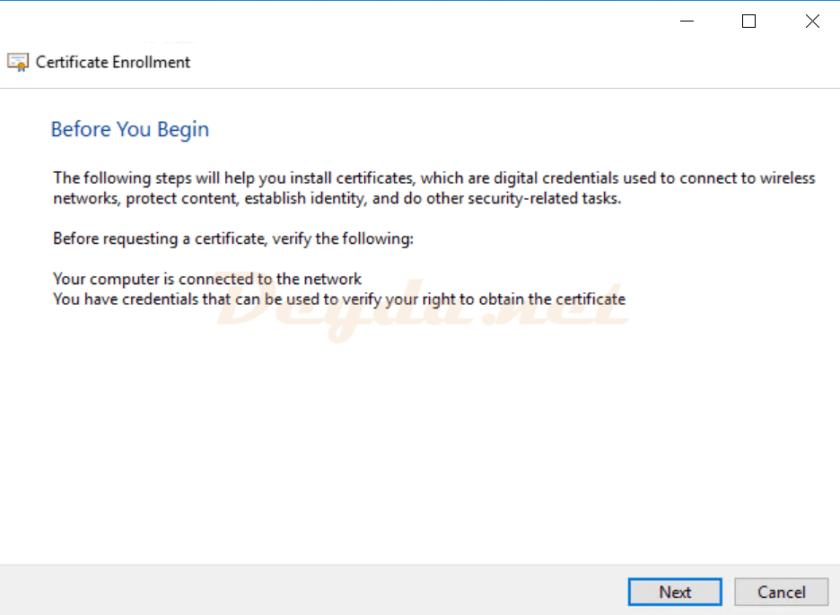 Certificate Enrollment Before you begin