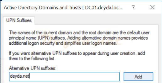 Add Alternative UPN Suffixes