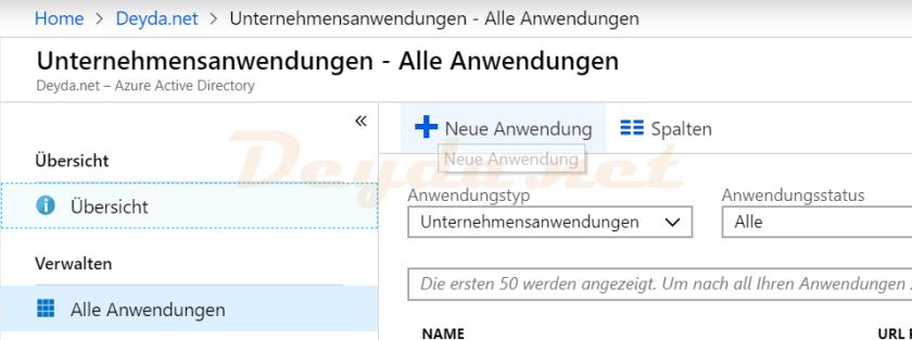 Enterprise Application New Application Azure