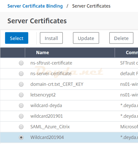 Server Certificate Binding Server Certificates Wildcard