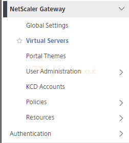 Citrix ADC Gateway NetScaler Gateway Virtual Servers