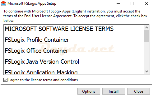 Install FSLogix Profile Container Office Container Java Version Control Application Masking