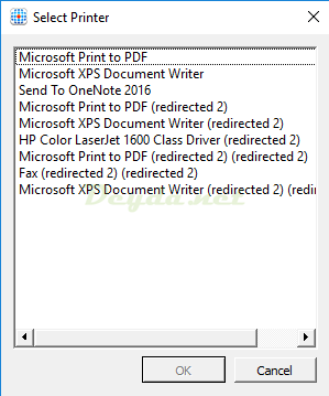 Hiding Rule Select Printer