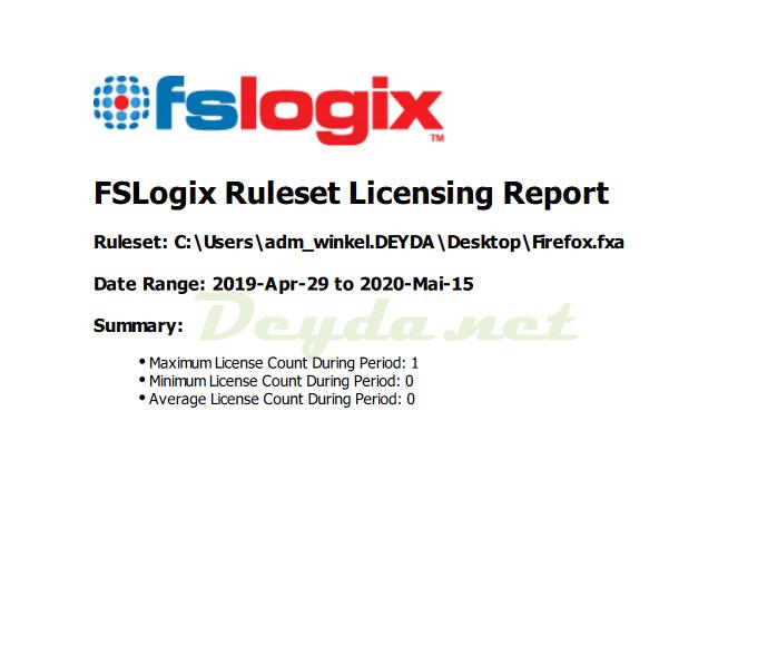 License Report PDF