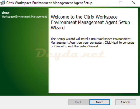 Citrix Workspace Environment Management Agent Setup