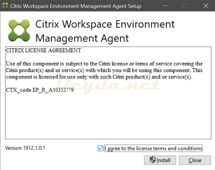 Citrix Workspace Environment Management Agent