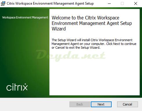 Citrix Workspace Environment Management Agent Setup Wizard