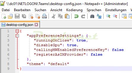 Teams Default File