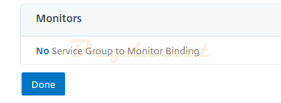 Monitors No Service Group to Monitor Binding