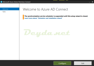 Welcome to Azure AD Connect Configure