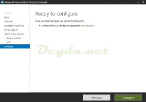 Ready to configure Configure the SCP for device registration