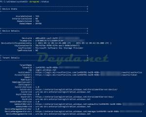dsregcmd /status AzureAdJoined YES DomainJoined YES