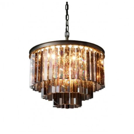 Rh 1920s Odeon Clear Glass Fringe Round 3 Tier Chandelier Design By Restoration Hardware Lighting On Dezignlover