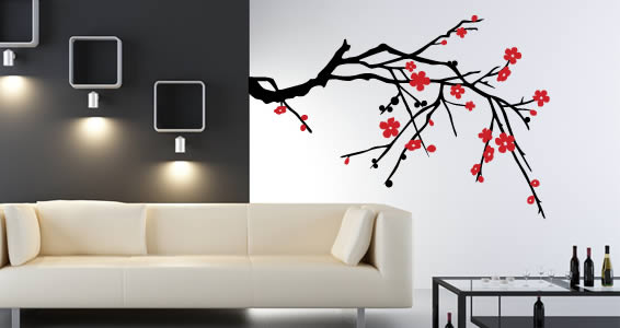 Blossom Branch decorative wall tattoos. Customize your decal