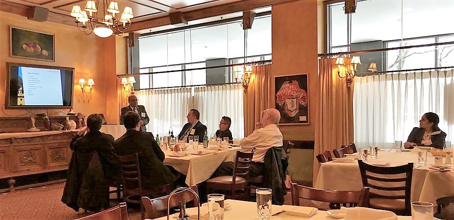 The luncheon was held in the middle of the Chicago-leg of Rohit's U.S. business trip