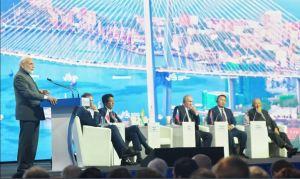 Chris Devonshire-Ellis and Maria Kotova attend Eastern Economic Forum in Vladivostok, Russia
